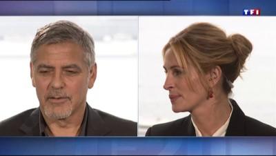 """Julia Roberts et George Clooney sur TF1 depuis Cannes : """"On est amis depuis tellement longtemps"""""""