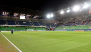Le Stade de la route de Lorient à Rennes, le 17 décembre 2014.