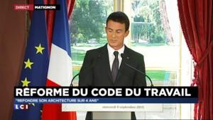"""Réforme du code du travail : Valls vise une """"refonte de son architecture sur 4 ans"""""""