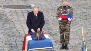 Cérémonie d'hommage aux Invalides, le 15 janvier 2013, pour le militaire français tué au Mali.