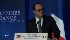 """Hollande à Manille : """"Chaque pays doit faire sa transition énergétique"""""""