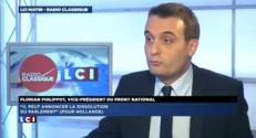 """Hollande peut """"annoncer des référendums, ça nous changerait"""" lance Philippot"""