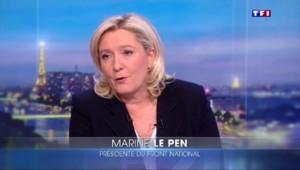 """Invité du 20H de TF1, Marine le Pen se déclare """"candidate de la vérité"""" en 2017"""