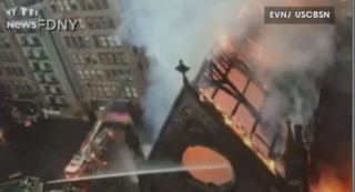 Une église historique de New York ravagée par un incendie