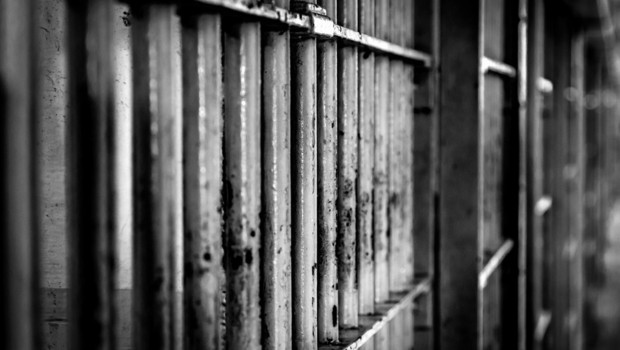 Image d'archive de barreaux de prison