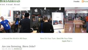 Images du blog BirdAbroad révélant les Apple Store copie (presque) conforme