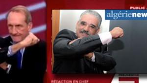 La réponse de la presse algérienne au bras d'honneur de Gérard Longuet : photo en Une d'Algérie News (3 novembre 2012)