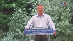 """Le 20 heures du 24 août 2014 : Bruno Le Maire sur les frondeurs PS : """"Si Montebourg et Hamon avaient de la dignit�ils d�ssionneraient"""" - 833.482872833252"""