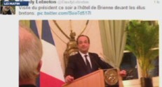 François Hollande visite surprise bretagne