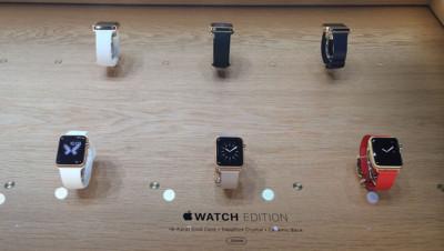 La collection Edition de l'Apple Watch avec son boîtier en or jaune 18 carats