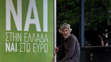 """Grèce : affiche pour le """"oui"""" pour le référendum sur le plan européen du 5/7/15"""