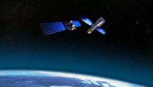 La collision de deux satellites en 3D. (Archives).