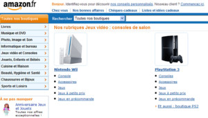 Le site français d'Amazon