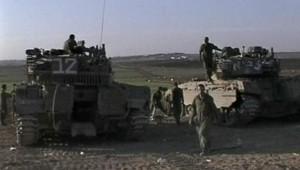 TF1/LCI : Chars israéliens après le retrait de Tsahal de Gaza