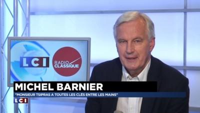 """Crise de la Grèce : """"Tsipras a toutes les clés entre les mains"""" pour Michel Barnier"""