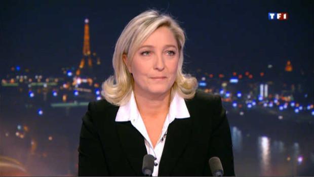 """Marine Le Pen : """"C'est M. Montebourg qui est d'accord avec moi"""", pas l'inverse"""