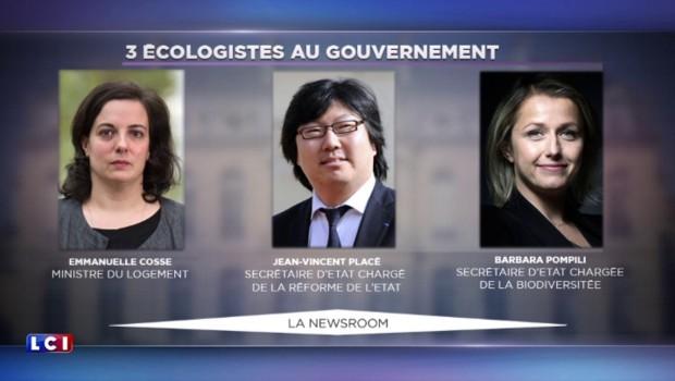"""Remaniement : Cosse, Placé, Ayrault... la porte-parole d'EELV fustige """"le gouvernement des égos"""""""