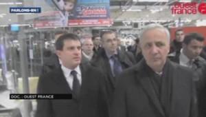 Manuel Valls à la gare de Rennes le 08/01