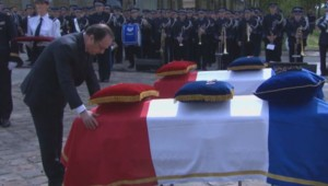 Policiers tués à Magnanville : Hollande rend un dernier hommage