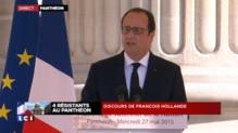 """Panthéon : """"Ils sont quatre admirables sans avoir voulu être admirés"""", déclare Hollande"""