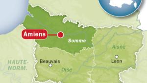 Carte de localisation d'Amiens.