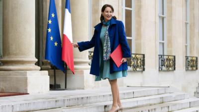 La ministre de l'environnement Ségolère Royal à l'Elysée le 27.11.14 pour la 3e conférence environnementale