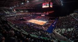 Le stade Pierre Mauroy de Villeneuve-d'Ascq accueillant la finale de la Coupe Davis 2014