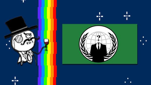 Les logos de Lulzsec et Anonymous