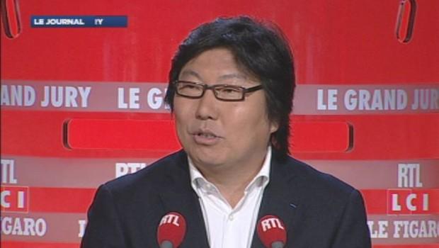 Jean-Vincent Placé sur le plateau du grand jury RTL-LCI-Le Figaro.
