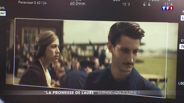 """Sur le tournage de """"La promesse de l'aube"""", avec Pierre Niney"""