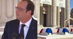François Hollande lors d'une cérémonie au Panthéon le 27 mai 2015