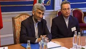 Le négociateur iranien sur le dossier nucléaire lors d'une séance de discussions à Genève (19 juillet 2008)
