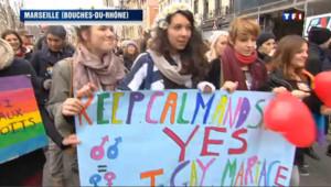 "Mariage gay : nouvelles manifestations du ""oui"" en province"