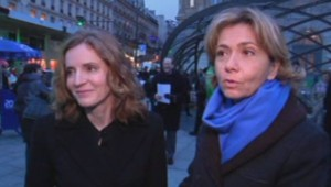 Nathalie Kosciusko-Morizet et Valérie Pécresse à la gare Saint-Lazare le 09/01/2014