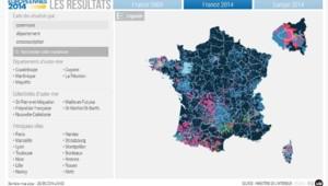 carte résultats européennes