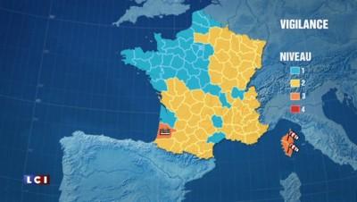 Crues et vents violents : les Landes et la Corse en vigilance orange