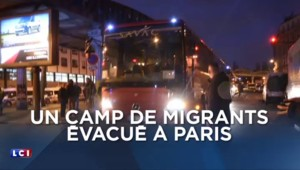 Paris : important dispositif policier pour l'évacuation d'un camp de migrants