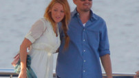 Leonardo Di Caprio et Blake Lively sur un yacht  Antibes avec Steven Speilberg