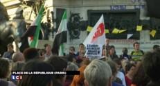 Afflux de migrants en Europe : rassemblement place de la République à Paris