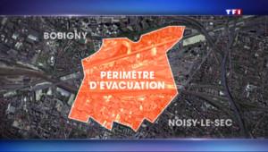 Le 13 heures du 6 septembre 2015 : Noisy-le-sec: un déminage paralyse le trafic, 8000 personnes évacuées - 518