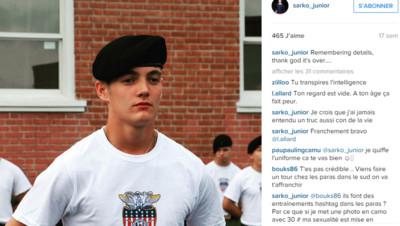 Louis Sarkozy dans son école militaire.