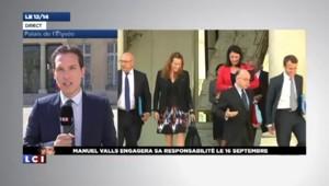 Valls : le vote de confiance aura lieu le 16 septembre