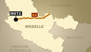 A4 Metz Moselle accident carte