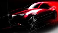 Le nouveau crossover compact de Mazda, le CX-3, se dévoile avec une première image officielle. Il sera présenté lors du Salon de Los Angeles 2014.