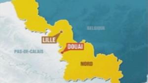 Carte de localisation de Douai dans le département du Nord