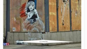 """Cosette en larmes dans une rue de Londres : quand Banksy tacle la France sur la """"Jungle"""" de Calais"""