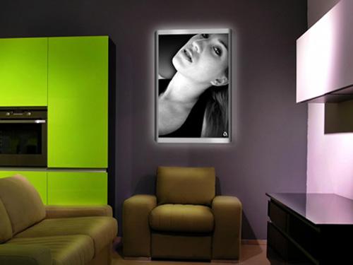 Déco tableau photo lumineux