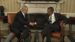 Benjamin Netanyahu reçu par Barack Obama à la Maison Blanche, le 20 mai 2011
