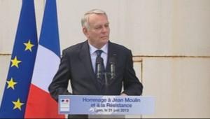 Jean-Marc Ayrault pour un hommage à Jean Moulin à Caluire le 21 juin 2013