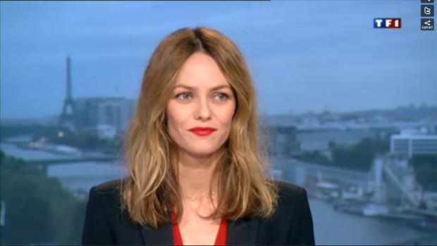 Vanessa Paradis au JT de TF1 dimanche 12 mai 2013